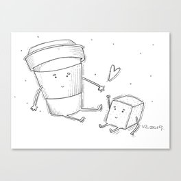 You're the sugar to my coffee Canvas Print