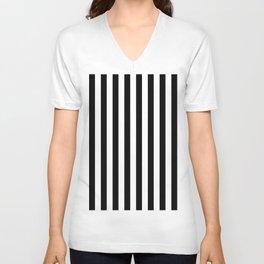 Parisian Black & White Stripes (vertical) Unisex V-Neck