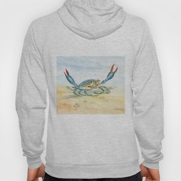 Colorful Blue Crab Hoody
