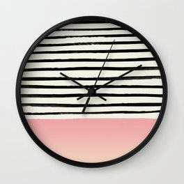 Blush x Stripes Wall Clock