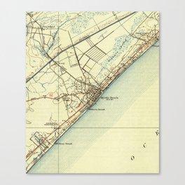 Vintage Map of Myrtle Beach South Carolina (1940) Canvas Print