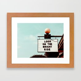 Look on The Bright Side Marquee Sign, Austin Motel, Austin, Texas Framed Art Print