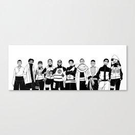 Naruto Hip-Hop Crossover Set 1 Canvas Print