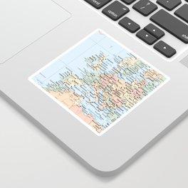 World Map Europe Sticker