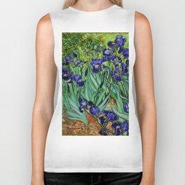 Van Gogh Purple Irises at St. Remy Biker Tank