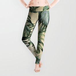 Palm Leaves Classic Linen Leggings