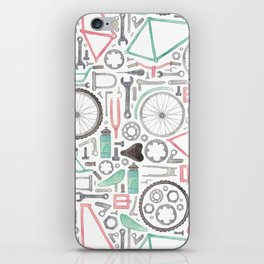 Cycling Bike Parts iPhone Skin