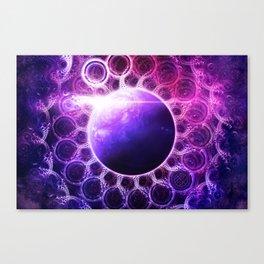 Deep Dream Fractal Mandala - Deep Space Galaxy Dreamer Canvas Print
