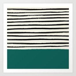 Jungle x Stripes Art Print