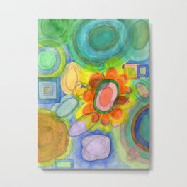 A closer Look at the Flower Universe Metal Print