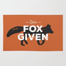 Zero Fox Given Rug