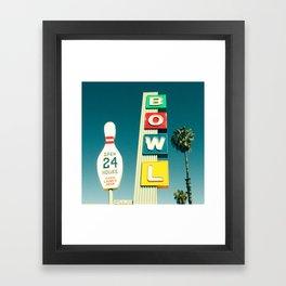 Linbrook Bowl - Anaheim, CA Framed Art Print