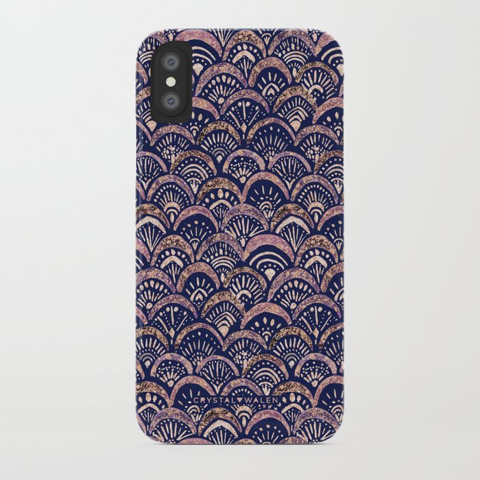 Mermaid Medallion Autumn Blush iPhone Case