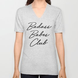 Badass Babes Club 2 Unisex V-Neck