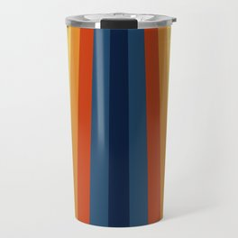 Bright 70's Retro Stripes Travel Mug