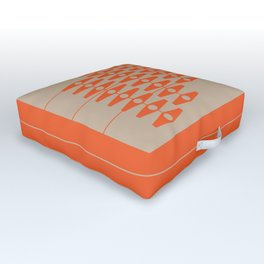 abstract eyes pattern orange tan Outdoor Floor Cushion