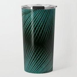 Palm leaf synchronicity - twilight teal Travel Mug