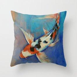 Sanke Butterfly Koi Throw Pillow