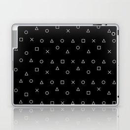 black gaming pattern - gamer design - playstation controller symbols Laptop & iPad Skin