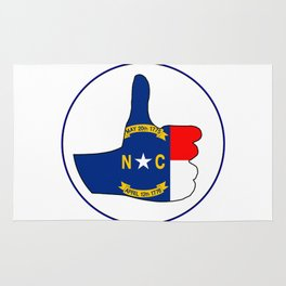 Thumbs Up North Carolina Rug