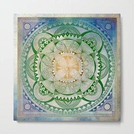 Metta Mandala, Loving Kindness Meditation Metal Print
