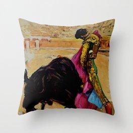 Fiesta de Toros in Spain Travel Throw Pillow