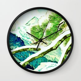 The Winter Green Wall Clock
