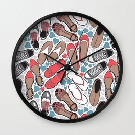Shoe lover tattoos Wall Clock