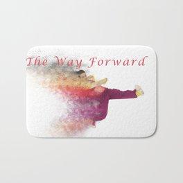 Famous humourous quotes series: The way forward. Exploding hiphop dancer  Bath Mat