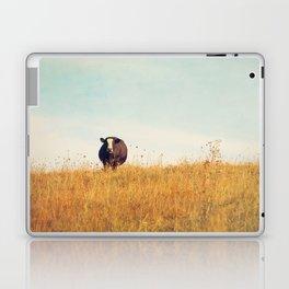 Moooo -- Autumn Landscape -- Cow in a Pasture Laptop & iPad Skin