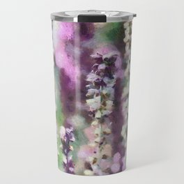 Purple Ribbons Travel Mug