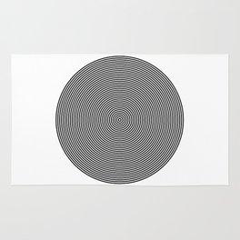Hypnotic Circles optical illusion Rug