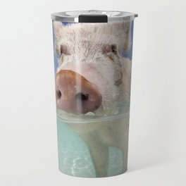 Swimming Pig Travel Mug