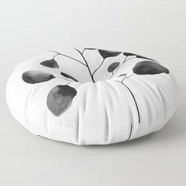 Watercolor Leaves Floor Pillow