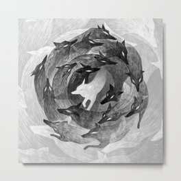 Running With The Wolves Metal Print