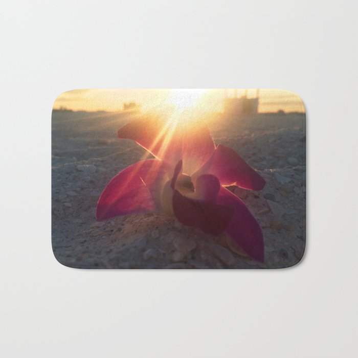 Sunset Wedding Flower Bath Mat