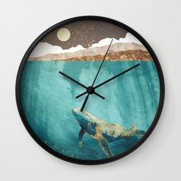 Light Beneath Wall Clock