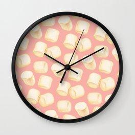 Marshmallow Pattern - Pink Wall Clock