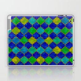 Ocean Breeze -Watercolor Moroccan Lattice Laptop & iPad Skin