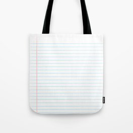 Notebook Paper Digital Watercolor School Chalk Tote Bag