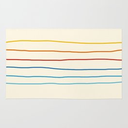 Abstract Retro Stripes #1 Rug