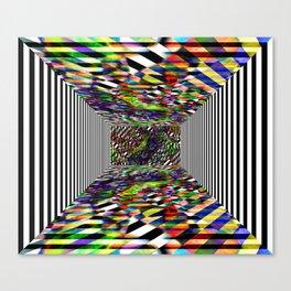 Colorblock box Canvas Print