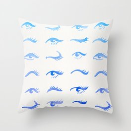 Mascara Envy – Blue Ombré Palette Throw Pillow