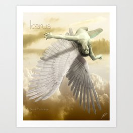 Icarus Myth Art Print