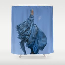 Sacred Blue Shower Curtain