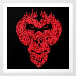 The Ape Man - The Beast Within Art Print
