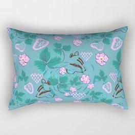 Chipmunks in the Strawberries Rectangular Pillow