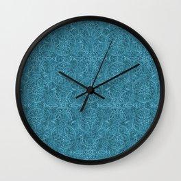 Moroccan Teal Arabesque Wall Clock