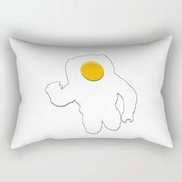 The Eggstronaut Rectangular Pillow