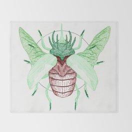 Thorned Atlas Beetle Throw Blanket